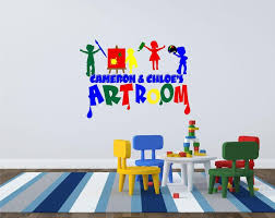 Childs Playroom Wall Decals Sayings Large Childrens Design Etsy Cheap Rules Alphabet Stickers Vamosrayos