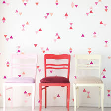 Mini Triangle Wall Decals Ombre Millennial Pink Orange Matte Decals