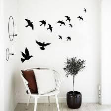 Birds Wall Decal Flock Of Birds Wall Decal Birds Decal Birds Etsy
