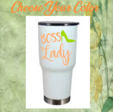 Monogram Vinyl Decal Sticker For Your Tumblers Cups Boss Lady Design Ebay