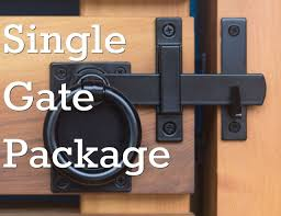 Contemporary Ring Gate Latch Set In Satin Black Build Your Own Package Gate Latch Gate Hinges Gate Hardware