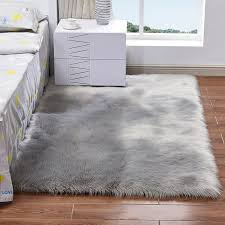 thierry large faux fur rug 5x7 9