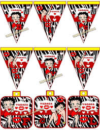 Kit Imprimible Betty Boop Disena Tarjetas Cumples Y Mas 79 99