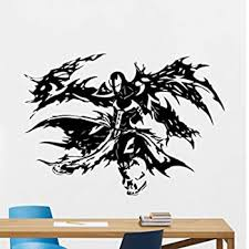 Amazon Com Wall Room Decor Art Vinyl Decal Sticker Mural Spawn Angel Fight Large Big As413 Home Kitchen