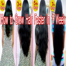 how to grow hair faster naturally in a