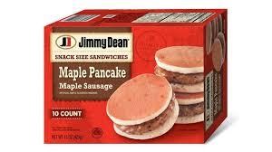 maple pancake sausage snack size
