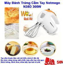 May Danh Trung, Máy Đánh Trứng Cầm Tay. Mua Ngay Máy Đánh Trứng Cầm Tay  Netmego N38D 300W Cao Cấp.Máy Đánh Trứng Nhào Trộn Bột, Đánh Trứng, Đánh Kem