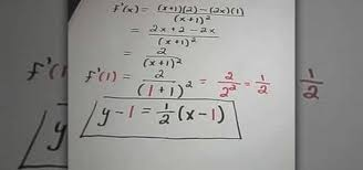 equation of a tangent line math