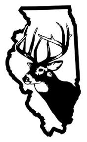 Illinois Deer Hunting Decal Sticker