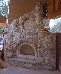 w e masonry river rock fireplace face