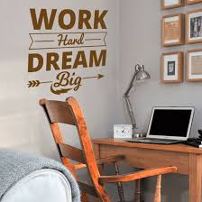 Wall Stickers Modern Wall Decals Work Hard Dream Big Quotes Chamber Study Room For Sale Online Ebay