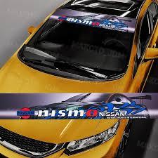 For Nissan Nismo Gt R 350z 370z Car Window Windshield Vinyl Banner Dec Makoto Jdm