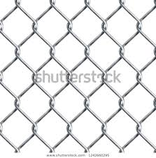Realistic Chain Link Chainlink Fencing Texture Stock Vector Royalty Free 1242660295