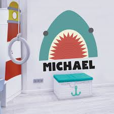 Shark Attack Name Decal Labeldaddy