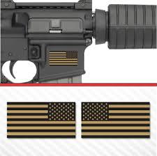 2x American Flag Flat Dark Earth Sticker Vinyl Decal Ar 15 Lower Tactical Fde Ebay