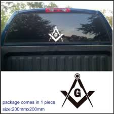 American Flag Freemason Pick Up Truck Rear Window Graphic Masonic Decal Auto Parts And Vehicles Auto Parts And Vehicles Car Truck Decals Stickers