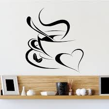 Cup Of Coffee With Love Kitchen Wall Sticker Decal World Of Wall Stickers