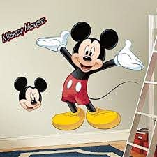 Amazon Com Giant Mickey Mouse Wall Decal Disney Bedroom Stickers Kids Room Decor New By Ww Shop Home Kitchen