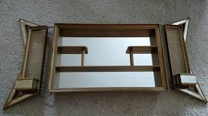 wall shelf shadow box mirror