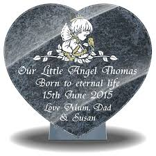 personalised baby memorial plaques