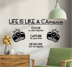 Life Is Like A Camera Quote Text Wall Sticker Tenstickers
