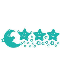 Don T Miss These Deals On Moon And Stars Set Wall Decal Turquoise 59 X20