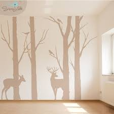 Deer In The Forest Wall Decals Forest Wall Art Forest Wall Decals Art