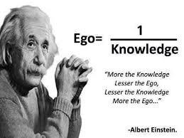 albert einstein ego versus knowledge quote