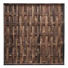 Woven Black Bamboo Fence Panel 180 X 180 Cm