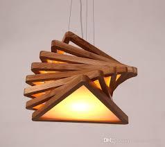 modern art wooden pendant lights cord
