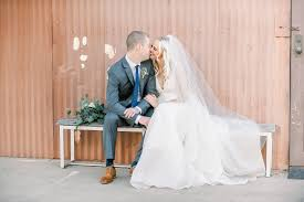 rustic warehouse wedding featured on