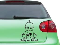 Baby On Board Boy Car Decal Sticker Mural Vinyl Wall Art Home Decor Contemporary Wall Decals By Style And Apply