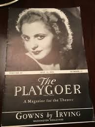 1936 THE PLAYGOER-The Magazine for the Theatre - Polly Walters - ORIGINAL |  eBay