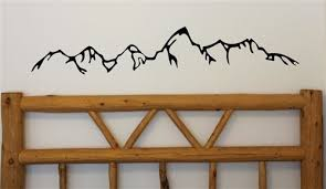 Teton Silouette Mountain Silhouette Baby Room Decals Teton Mountains