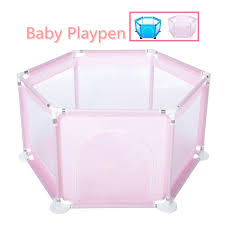 6 Sides Baby Playpen Kids Portable Play Yard Playpen Fence With Safety Gate Baby Playpen Playinghouse Indoor Outdoor Playards Newborn Baby Fence Balls Not Included Walmart Com Walmart Com