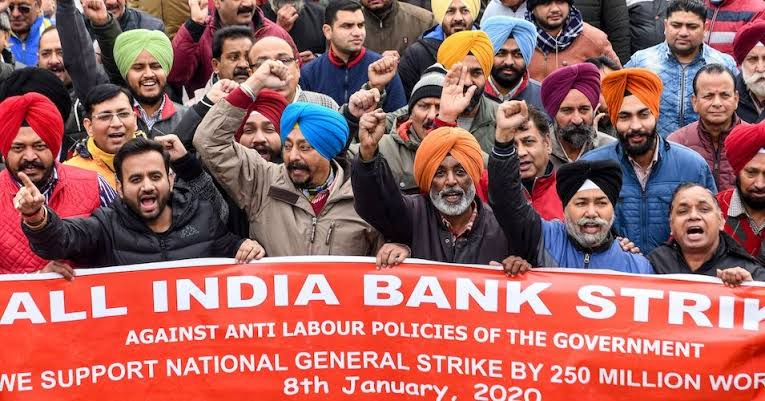 Image result for all india general strike 2020""