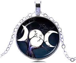 triple dess necklace triple moon
