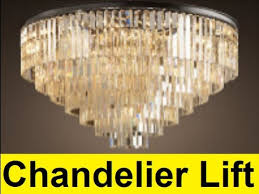 how to make a chandelier lift you