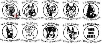 K9 Car Decals K9 Unit Dog Decals Rottweiler Boerboel Pitbull Bullmastiff German Shepherd Car Decals Canine Decals Dog Decals K9 Unit Business Design