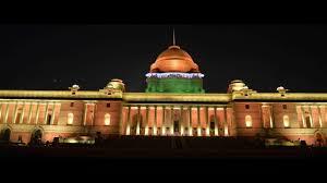 चित्र:Rashtrapati Bhavan in Tricolor lightening.jpg ...