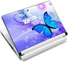 Blue Butterfly Laptop Skin Sticker Vinyl Sticker Decal Protector Cover For 12 13 13 3 14 15 Inch Notebook Pc Price In Saudi Arabia Amazon Saudi Arabia Kanbkam
