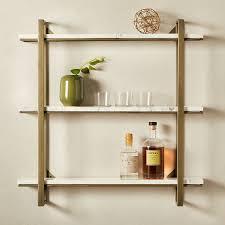 modern shelving and wall mounted
