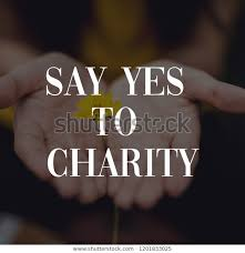 inspiring charity quotes royalty stock image