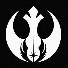 Amazon Com Stick Emall Rebel Alliance Jedi Order Star Wars Inspired White Vinyl Decal White Automotive