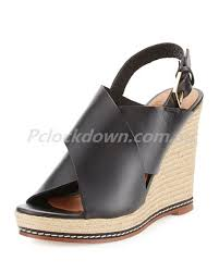 y leather crisscross wedge sandals