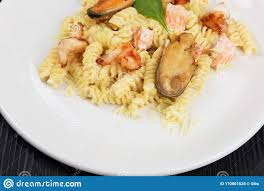Seafood Pasta With Mussels Salmon And ...