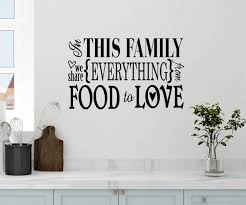 Amazon Com 24 X14 In This Family We Share Everything From Food To Love Kitchen House Heart Memories Wall Decal Sticker Art Mural Home Decor Home Kitchen