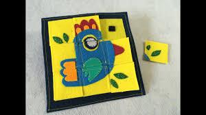 Tự làm trò chơi ghép hình cho bé - DIY - Idea for kids - Felt ...