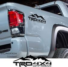 Amazon Com Increation Company Fits Tundra Tacoma Truck Body Side Bed Decal X2 Matte Black Vinyl Stickers Trd Off Road 4x4 Mountains Custom Auto Graphics Racing Development Design Automotive