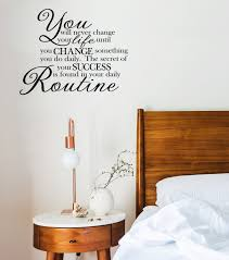Change Your Routine Success Change Your Life Motivational Wall Decal Workout Gym Wall Quote Office Lettering For Walls M 121 Vinyl Wall Expressions